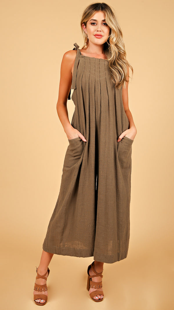 Sage Overall Style Jumpsuit