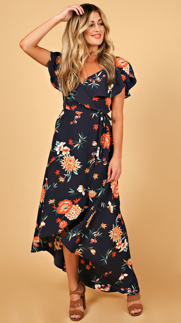 Dandelion Tie Waist Maxi Dress