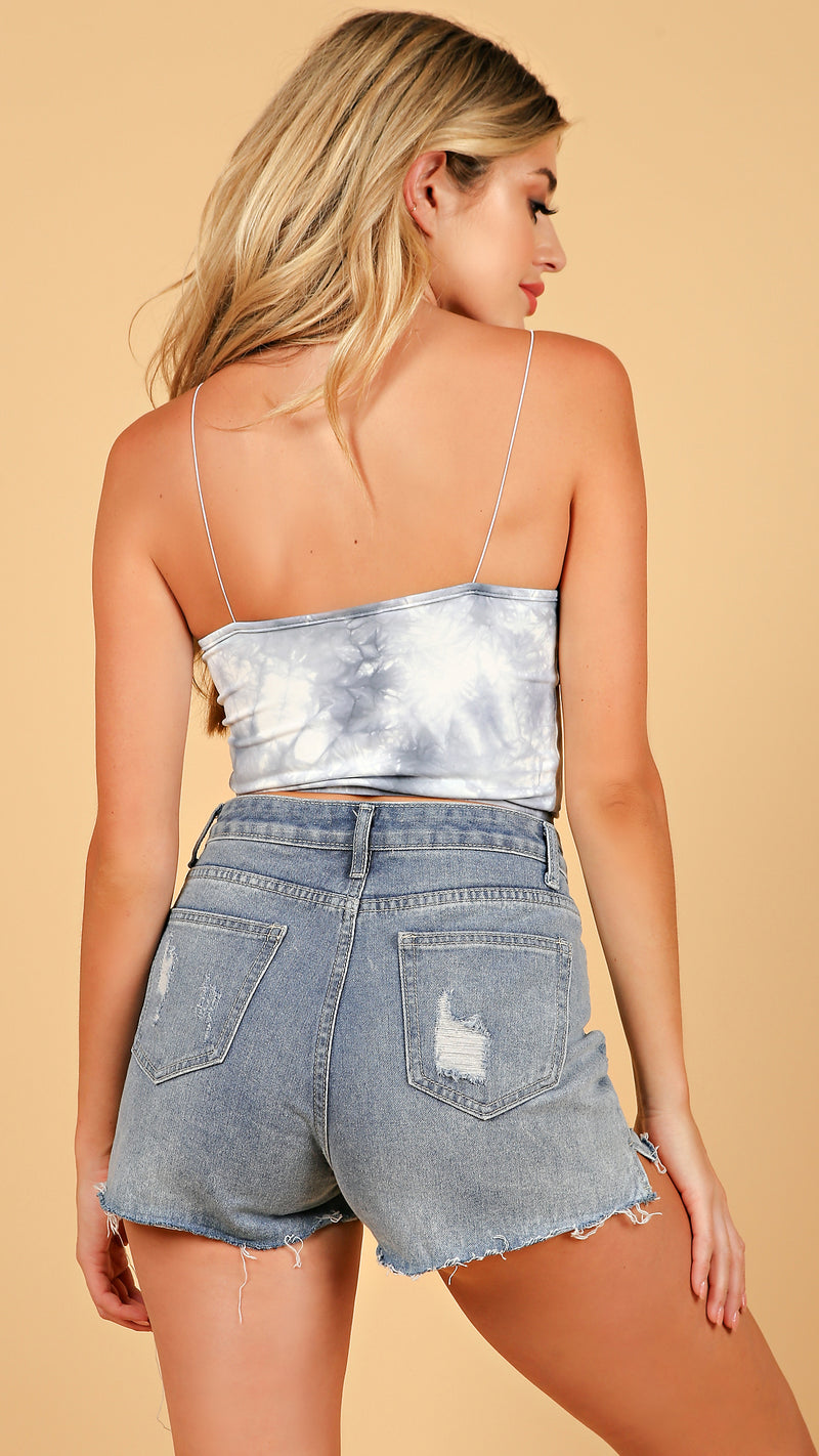 In the Clouds Tie Dye Crop Top