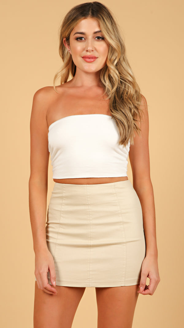 Chic Seam Detail Mini Skirt - Msky