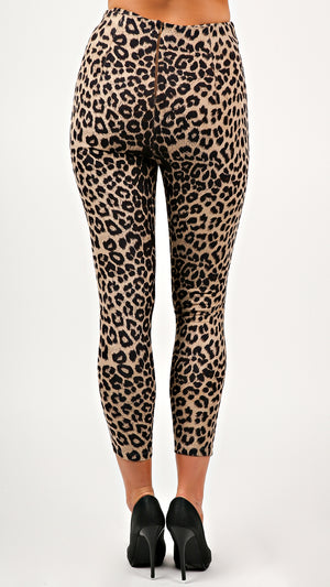 Alexia High Waist Leopard Pants