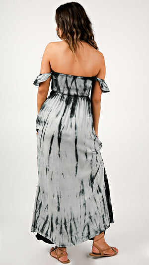 Midnight Dye Off Shoulder Maxi Dress