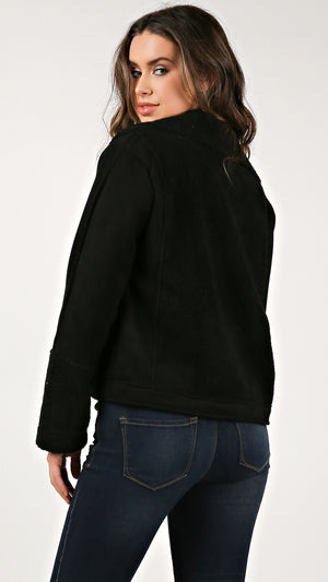 Suede Sherling Moto Jacket