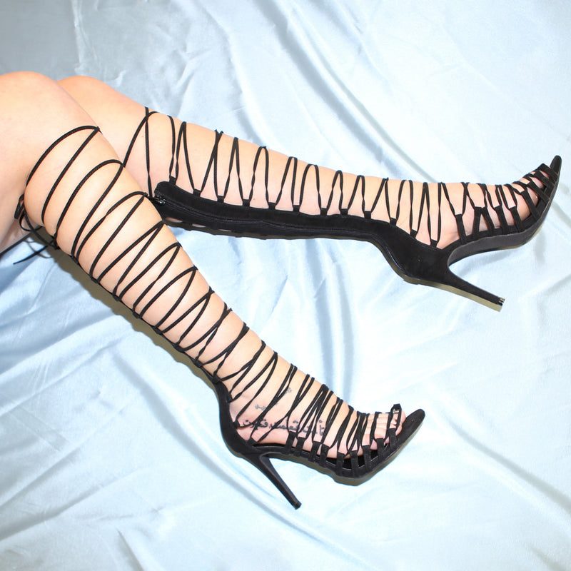 Beyonce Lace Up Heels - Msky