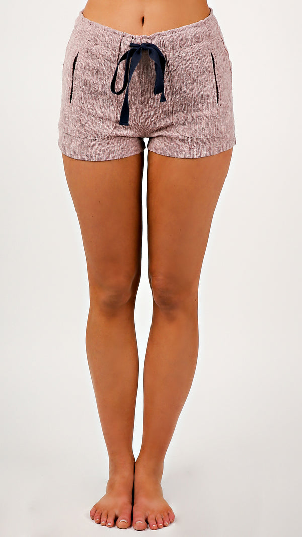 Light Washed Drawstring Shorts