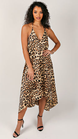Lisa Leopard V-Neck Dress
