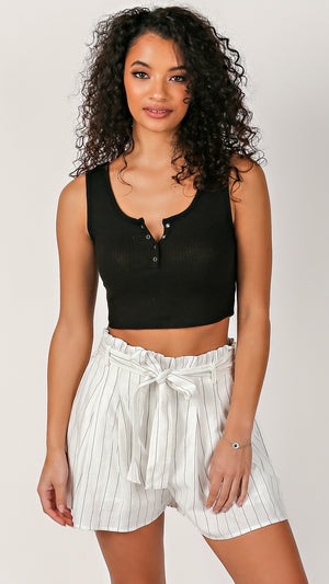 Cropped Ribbed Tank