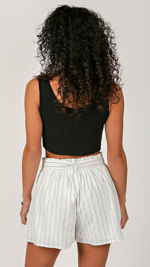 Cropped Ribbed Tank - ANGL