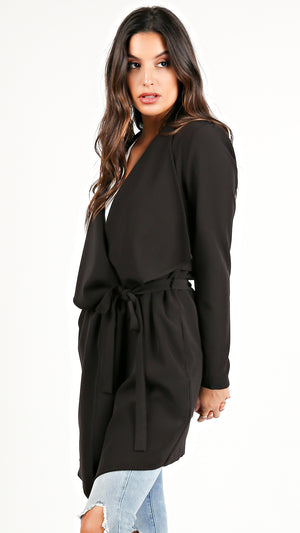 Chic Black Trench Coat...