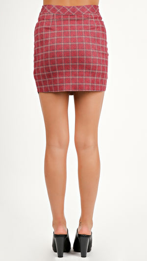 Plaid Mini Skirt...
