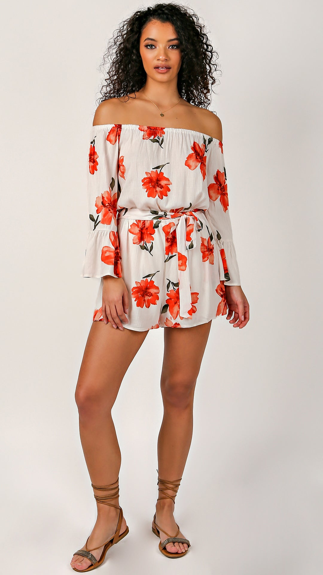 45224e9bf1fe When In Rome Floral Romper