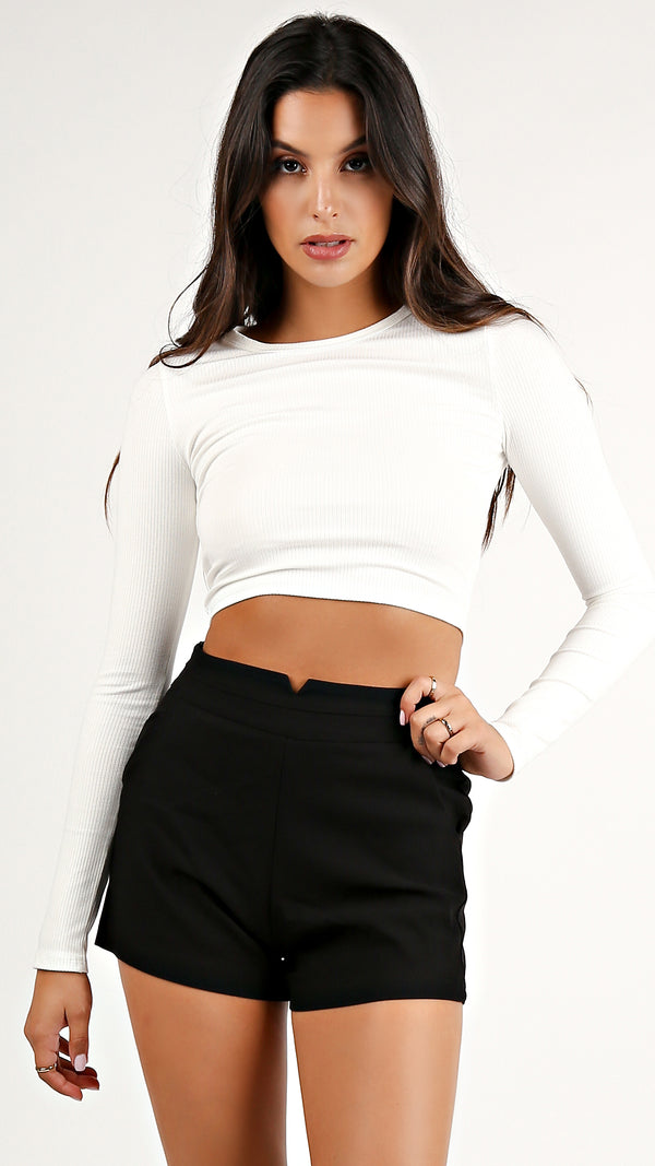 Fitted Long Sleeve Crop Top...