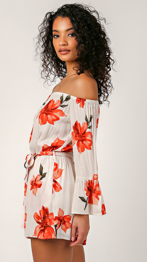 When In Rome Floral Romper