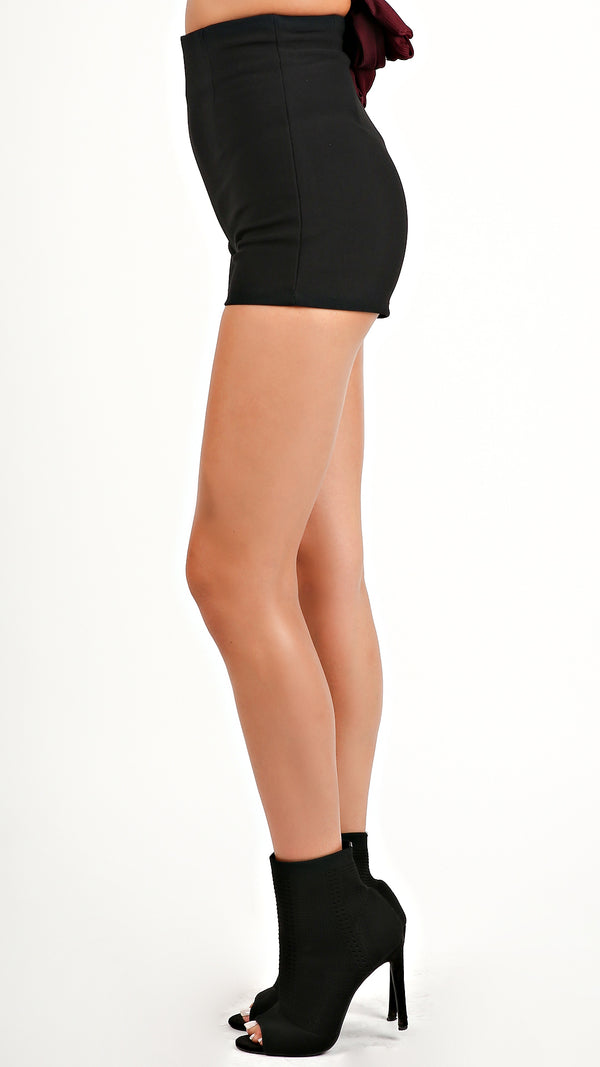 High Waist Black Shorts...