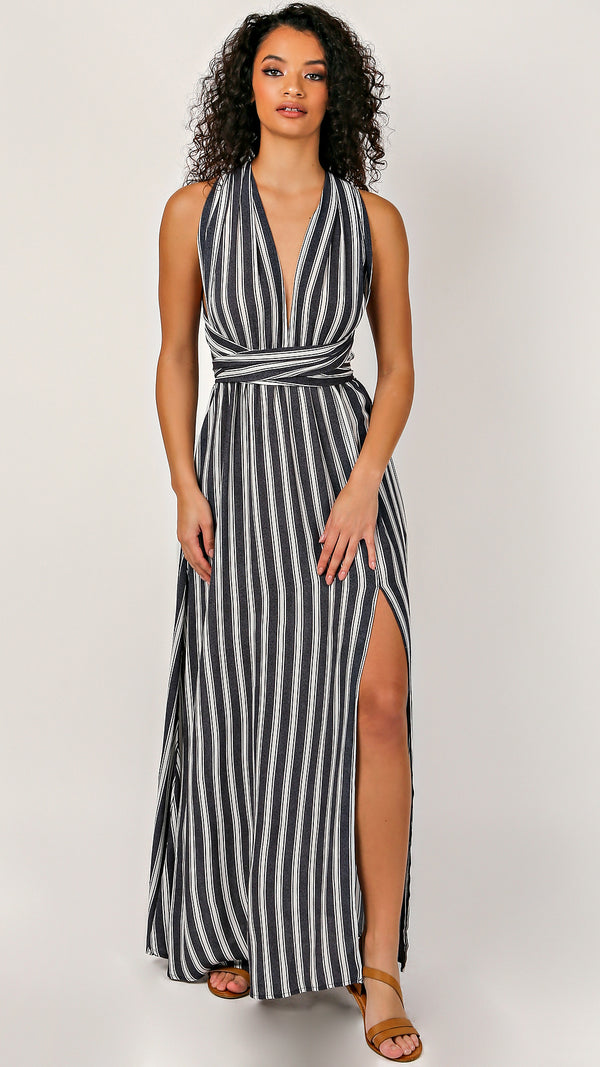 Olivia Tie Back Maxi Dress