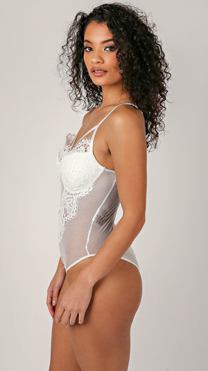 Scarlett Lace Fishnet Bodysuit