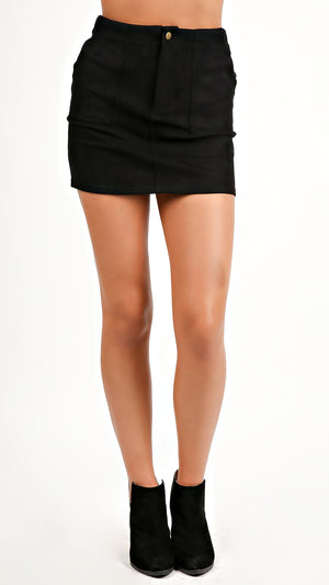 Suede Mini Skirt...