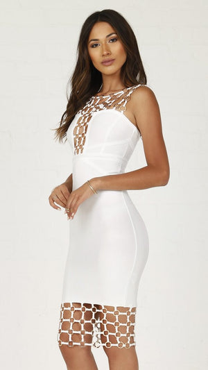 Metal Ring Detail Bandage Dress
