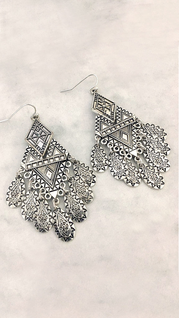 Tribal Clustered Design Earring