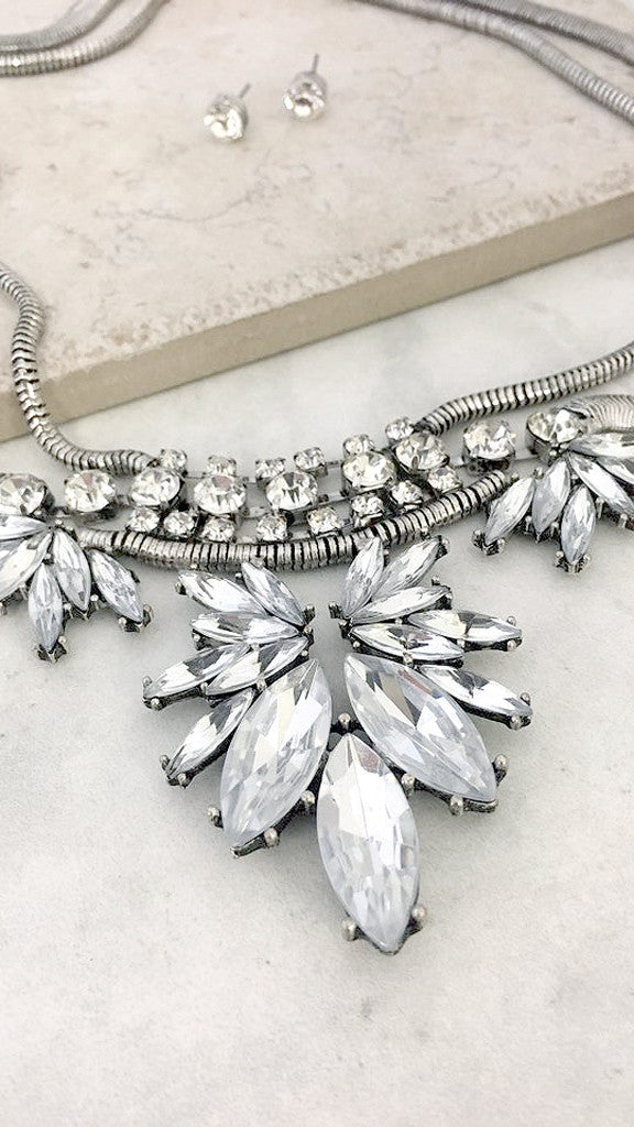 Rhinestone Glam Necklace