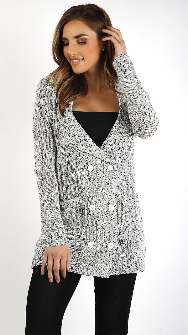 Double Button Knit Cardigan - Msky