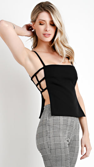 Strappy Side Woven Top