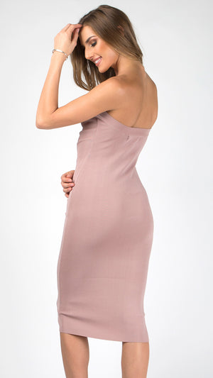 0ef303aeb7fd Ribbed Bodycon Midi Tube Dress - ANGL