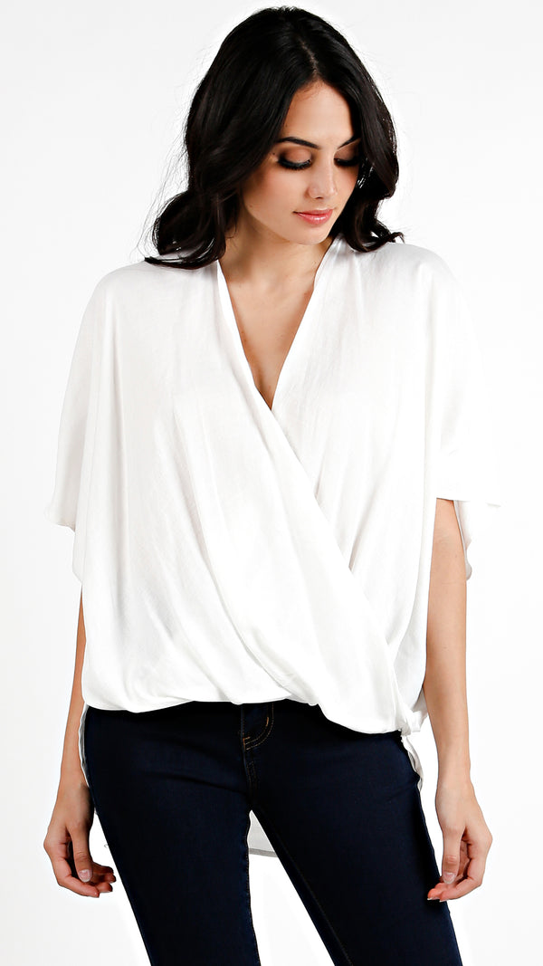 Linen Wrap Loose Fit Top