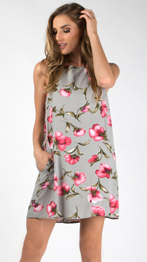 Poppy Love Side Pocket Shift Dress