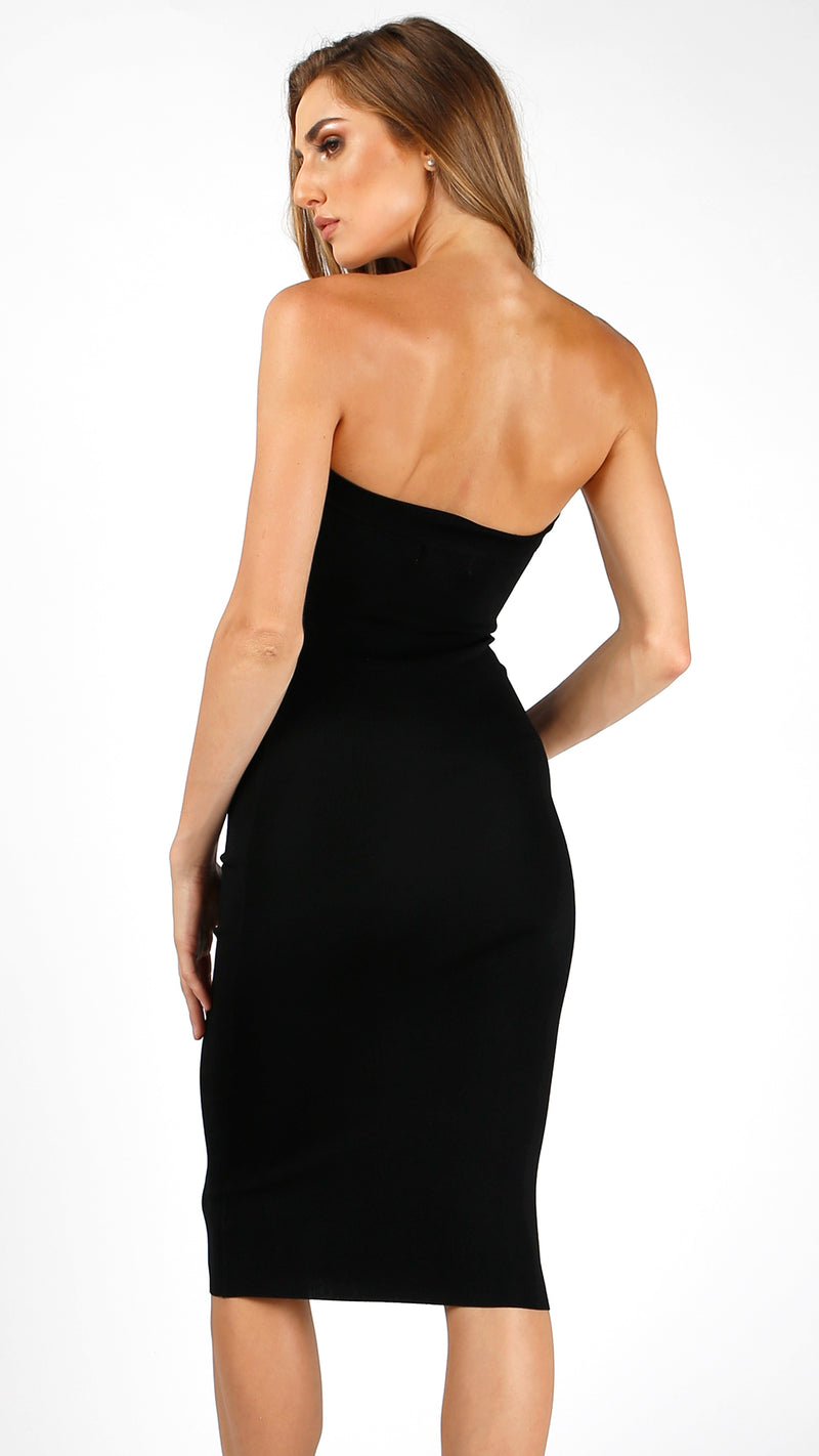 Ribbed Bodycon Midi Tube Dress