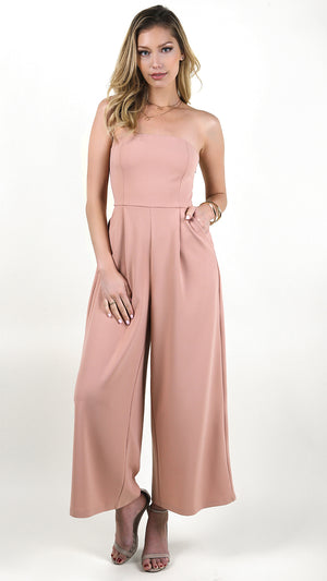 Tube Wide Leg Jumpsuit