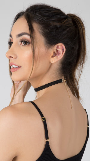 Suede Braided Choker