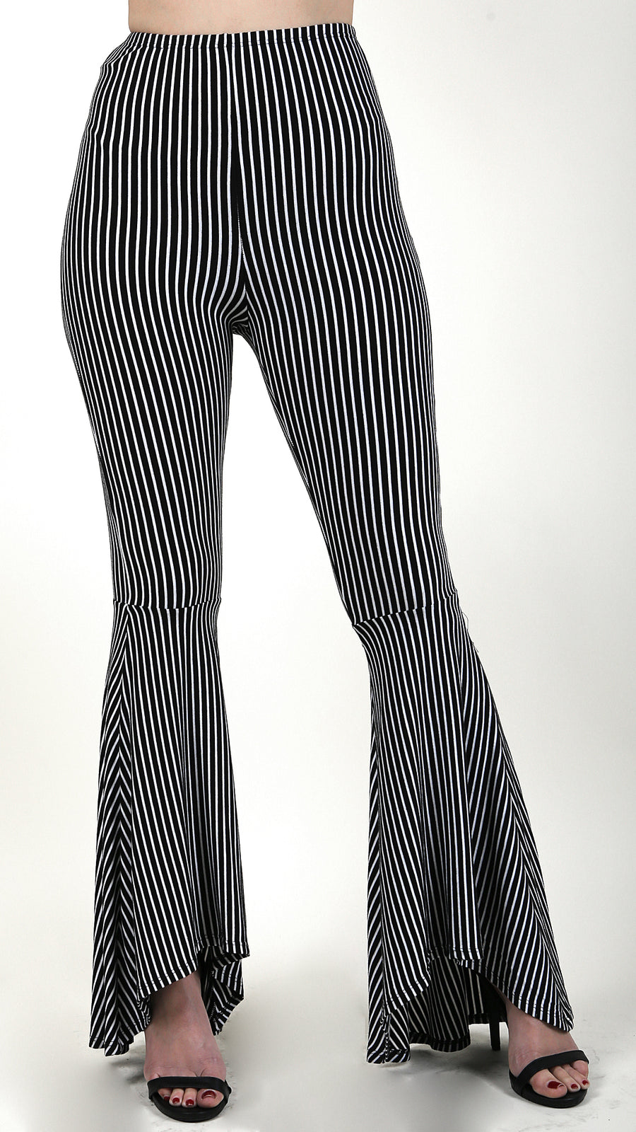 Striped Flare Bottom Pants