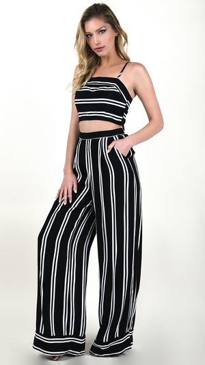 Striped Tank And Pants Set
