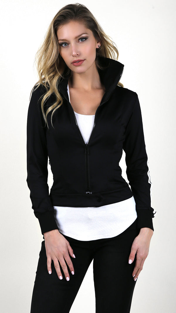 Fitted Zip Up Jacket - Msky