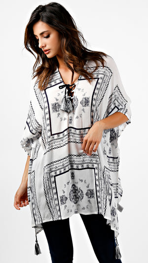 Boho Tribal Poncho Style Dress