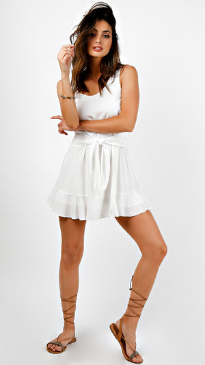Sleeveless Front Wrapped Mini Dress