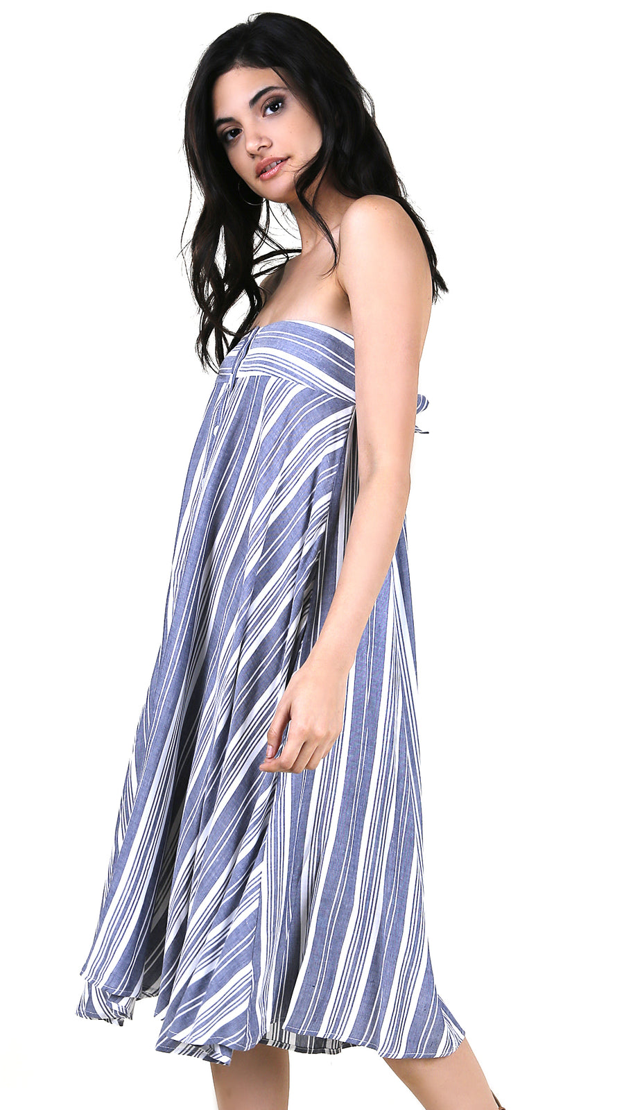 Striped Multi-wear Dress Skirt