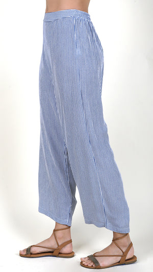 Sky Striped High Waisted Flowy Pants