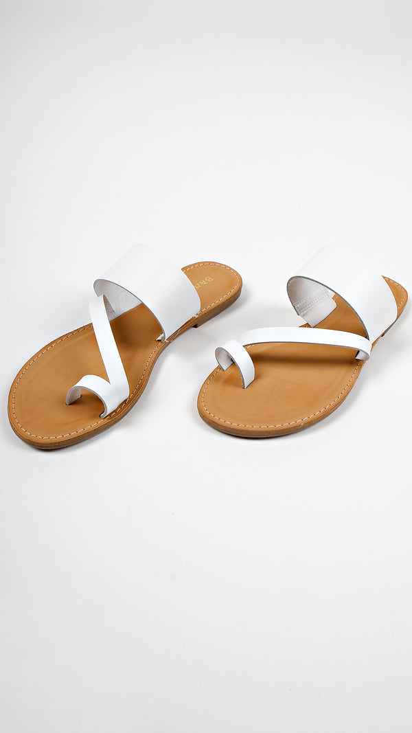 Summer Strappy Slip On Sandals