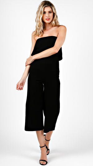 Ruffle Formal Tube Jumpsuit