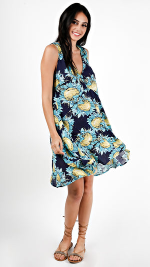Sunflower Breeze Mini Dress