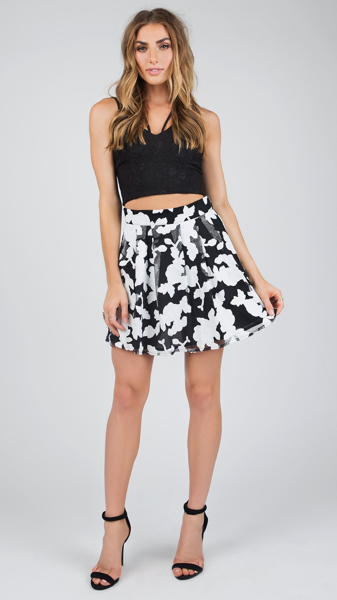 Floral Mesh Skater Skirt - ANGL a15c997a1