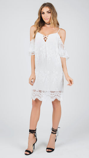 Delaney Cold Shoulder Delicate Dress