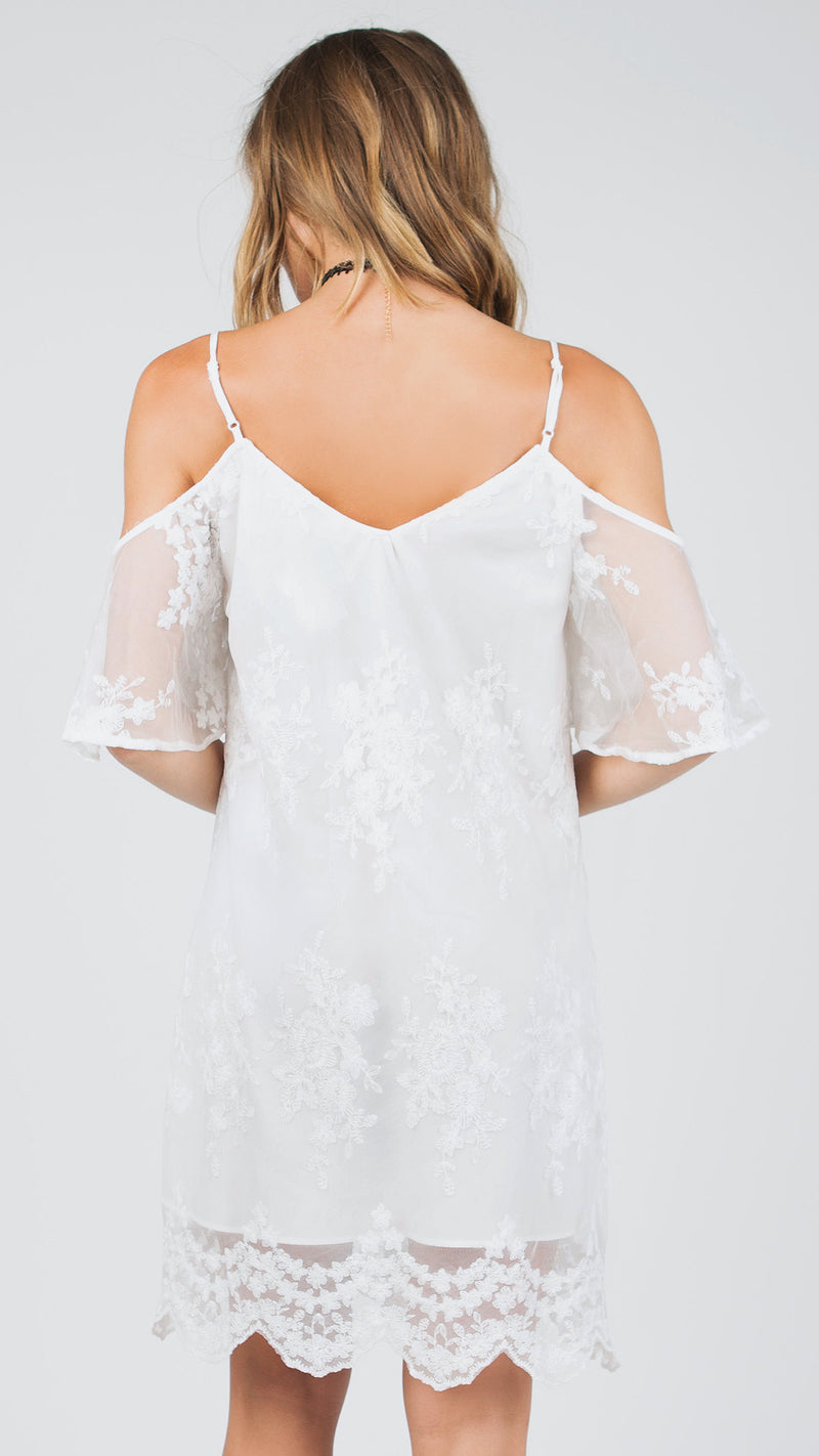 Delaney Cold Shoulder Delicate Dress - Msky