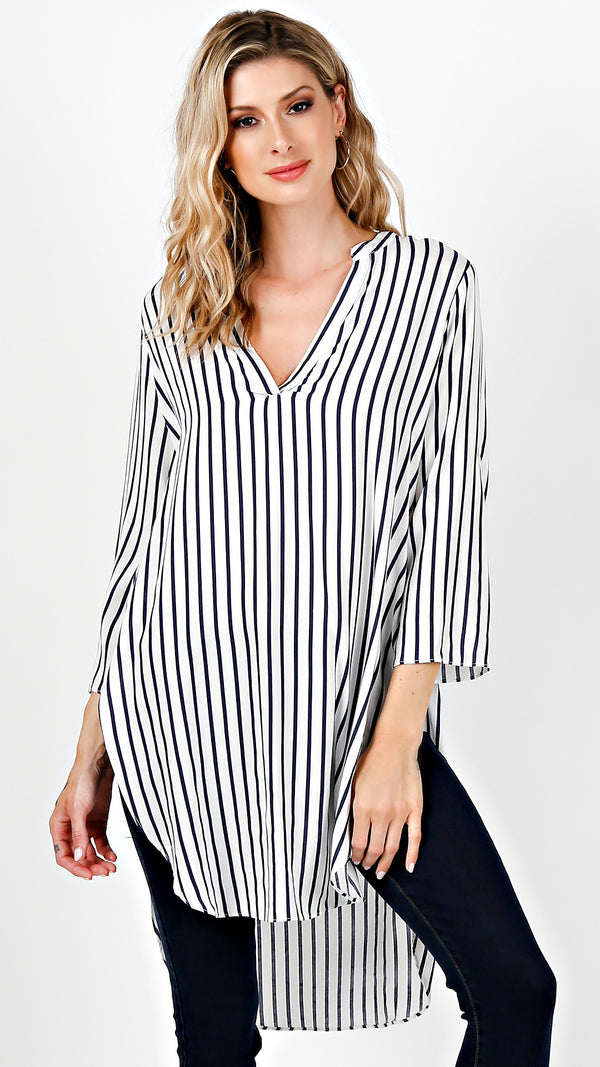 Sailor Stripe Tunic Top