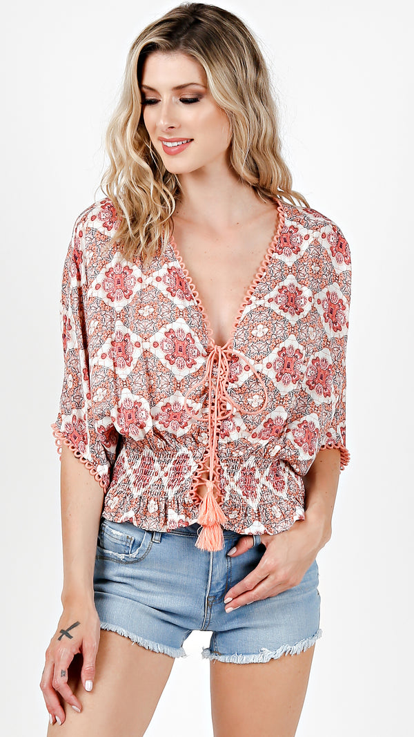 Pink Bloom Blouse Top