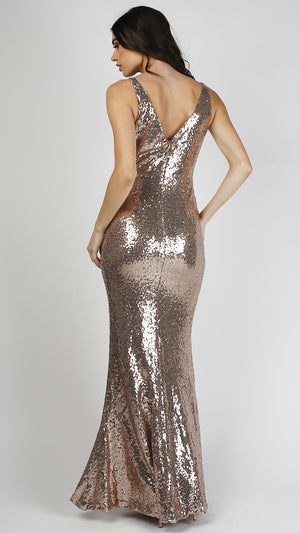 Mermaid Sequin Maxi Dress