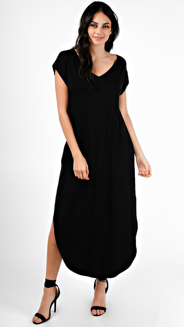 Knot Front T-Shirt Dress