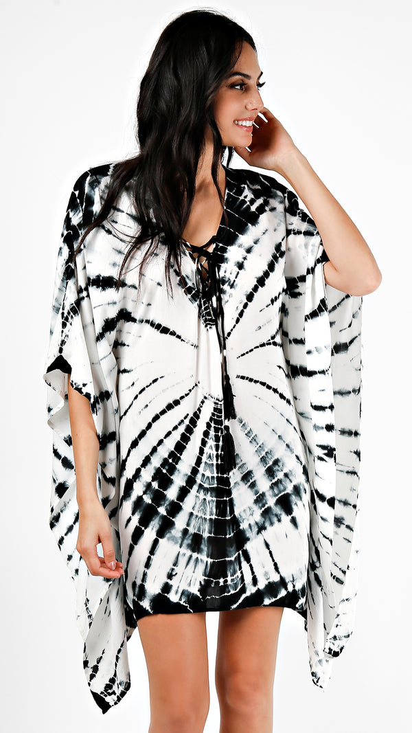 Tie Dye Cover Up Tunic Top